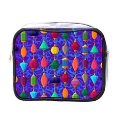 Colorful Background Stones Jewels Mini Toiletries Bags