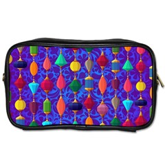 Colorful Background Stones Jewels Toiletries Bags