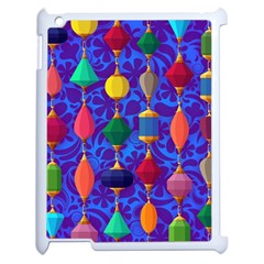 Colorful Background Stones Jewels Apple Ipad 2 Case (white)