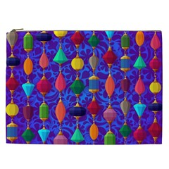 Colorful Background Stones Jewels Cosmetic Bag (xxl)