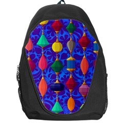 Colorful Background Stones Jewels Backpack Bag