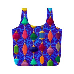 Colorful Background Stones Jewels Full Print Recycle Bags (m)