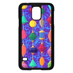 Colorful Background Stones Jewels Samsung Galaxy S5 Case (black)