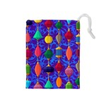Colorful Background Stones Jewels Drawstring Pouches (Medium)  Front