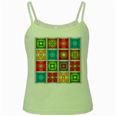 Tiles Pattern Background Colorful Green Spaghetti Tank