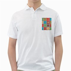 Tiles Pattern Background Colorful Golf Shirts