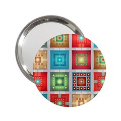 Tiles Pattern Background Colorful 2 25  Handbag Mirrors