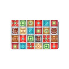 Tiles Pattern Background Colorful Magnet (name Card)