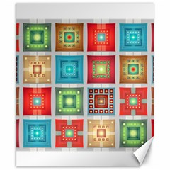 Tiles Pattern Background Colorful Canvas 8  X 10