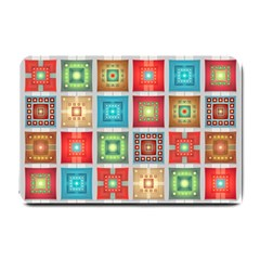 Tiles Pattern Background Colorful Small Doormat