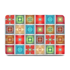 Tiles Pattern Background Colorful Plate Mats