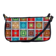 Tiles Pattern Background Colorful Shoulder Clutch Bags by Nexatart