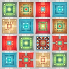 Tiles Pattern Background Colorful Magic Photo Cubes