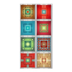 Tiles Pattern Background Colorful Shower Curtain 36  X 72  (stall)