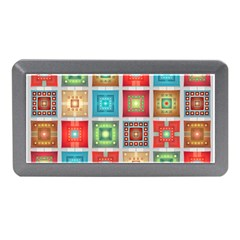Tiles Pattern Background Colorful Memory Card Reader (mini)
