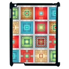 Tiles Pattern Background Colorful Apple Ipad 2 Case (black)