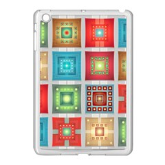 Tiles Pattern Background Colorful Apple Ipad Mini Case (white)