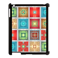 Tiles Pattern Background Colorful Apple Ipad 3/4 Case (black)