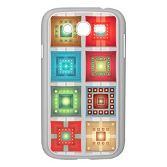 Tiles Pattern Background Colorful Samsung Galaxy Grand Duos I9082 Case (white)