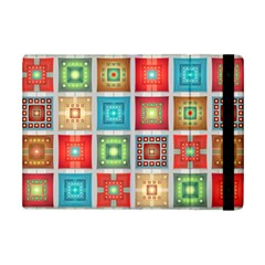 Tiles Pattern Background Colorful Ipad Mini 2 Flip Cases