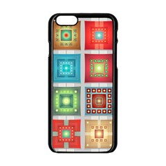 Tiles Pattern Background Colorful Apple Iphone 6/6s Black Enamel Case by Nexatart