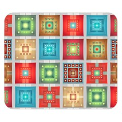 Tiles Pattern Background Colorful Double Sided Flano Blanket (small)