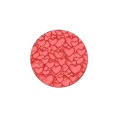 Background Hearts Love Golf Ball Marker (4 Pack)