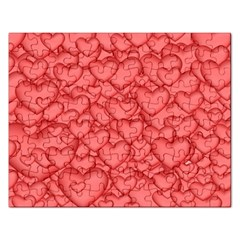Background Hearts Love Rectangular Jigsaw Puzzl