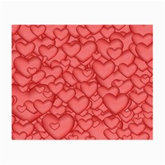 Background Hearts Love Small Glasses Cloth