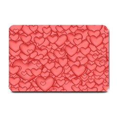 Background Hearts Love Small Doormat