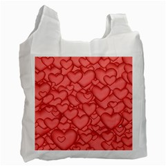 Background Hearts Love Recycle Bag (one Side) by Nexatart