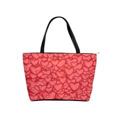 Background Hearts Love Shoulder Handbags