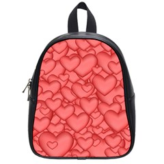 Background Hearts Love School Bag (small) by Nexatart