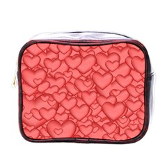 Background Hearts Love Mini Toiletries Bags