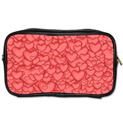 Background Hearts Love Toiletries Bags 2 Side by Nexatart