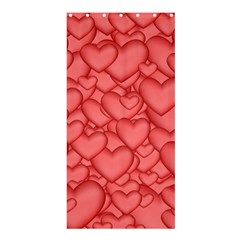 Background Hearts Love Shower Curtain 36  X 72  (stall)