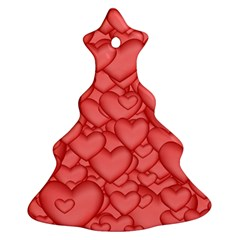 Background Hearts Love Ornament (christmas Tree)