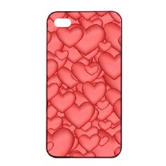 Background Hearts Love Apple Iphone 4/4s Seamless Case (black) by Nexatart