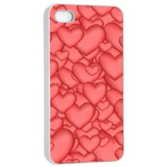 Background Hearts Love Apple Iphone 4/4s Seamless Case (white)