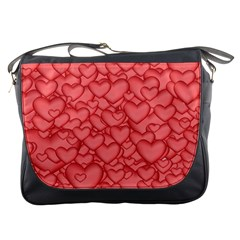 Background Hearts Love Messenger Bags