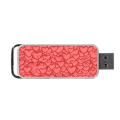 Background Hearts Love Portable Usb Flash (two Sides) by Nexatart