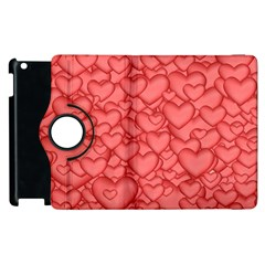 Background Hearts Love Apple Ipad 3/4 Flip 360 Case