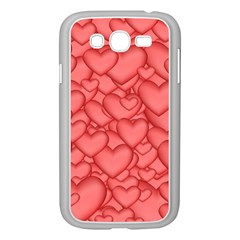 Background Hearts Love Samsung Galaxy Grand Duos I9082 Case (white)