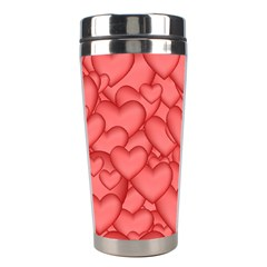 Background Hearts Love Stainless Steel Travel Tumblers