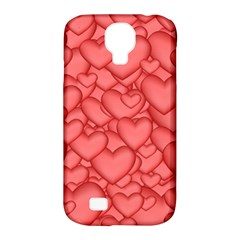 Background Hearts Love Samsung Galaxy S4 Classic Hardshell Case (pc+silicone)
