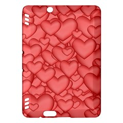 Background Hearts Love Kindle Fire Hdx Hardshell Case by Nexatart