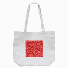 Background Hearts Love Tote Bag (white)