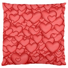 Background Hearts Love Large Flano Cushion Case (one Side)