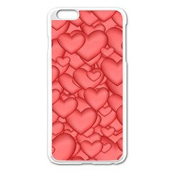 Background Hearts Love Apple Iphone 6 Plus/6s Plus Enamel White Case