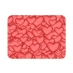 Background Hearts Love Double Sided Flano Blanket (mini)  by Nexatart